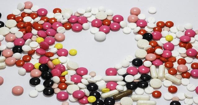 Pillen in hartvorm