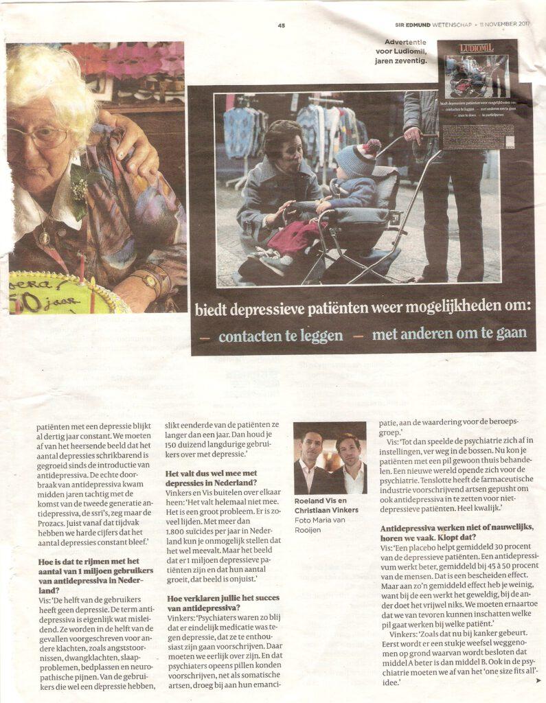 Artikel Volkskrant Magazine - Wees blij met antidepressiva